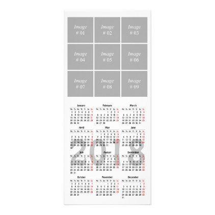 Create your own 2018 calendar Rack Card - travel photos wanderlust - how to create your own calendar