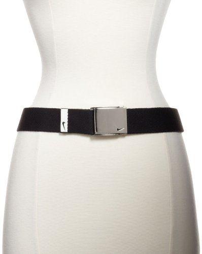 9fa4bc65f4 Nike Golf Women's Tech Essentials 3 Web Belt Pack, Black/Pink Force/White