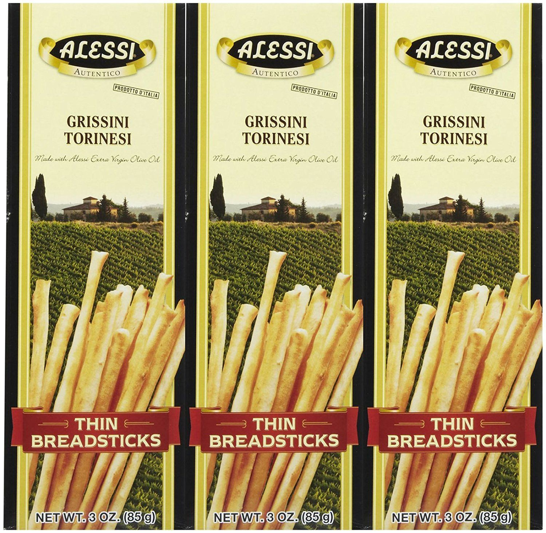 Alessi Thin Breadsticks, 3 oz, 3 pk *** For more
