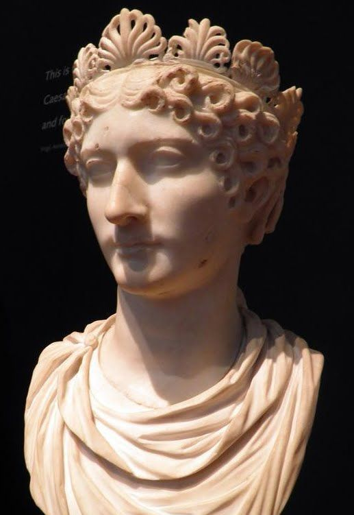 Marble Bust of a Roman Empress, probably Agrippina the Younger, Ashmolean Museum About AD 40 - 55