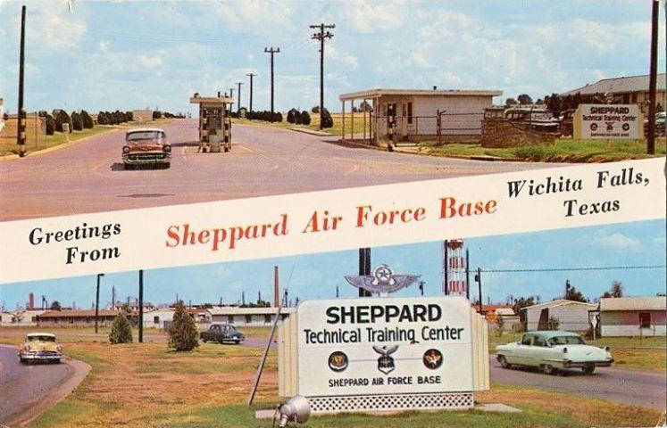 Entrance to Sheppard Air Force Base near Wichita Falls