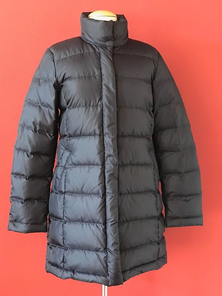 BROOKS BROTHERS 346 Womens Navy Blue Down Filled Quilted Puffer Coat Size 6