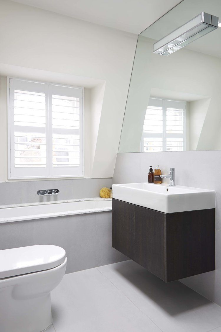 Fun architecture with floating vanity Blakes London | Bathroom ...