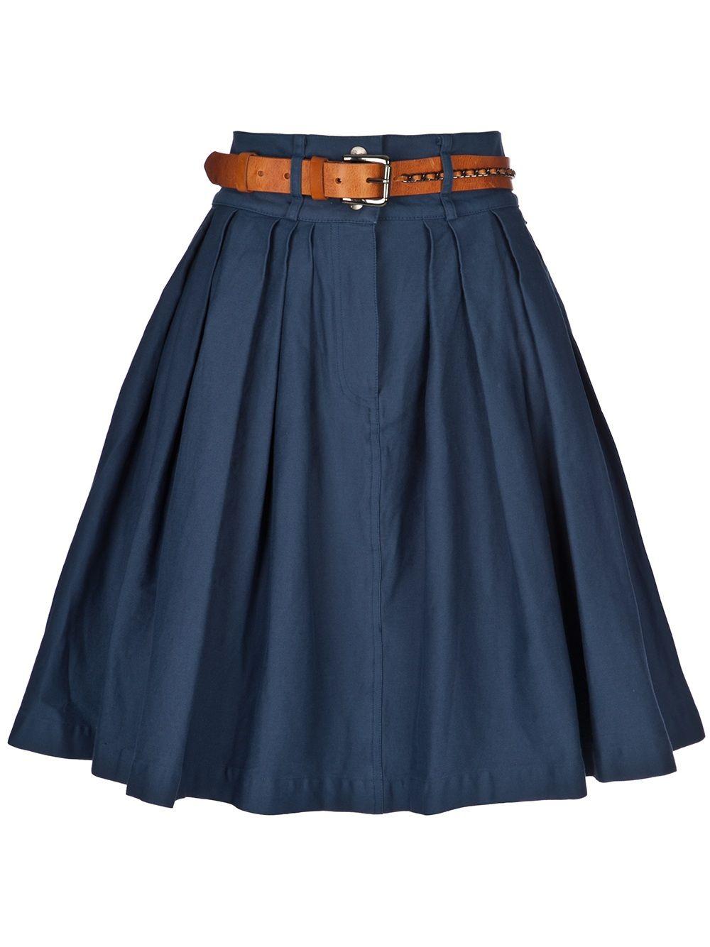 Falda de chambray Más 2bbd463076ff
