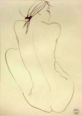 "Saatchi Art Artist Franco Fusari; Drawing, ""Maria #S178"""