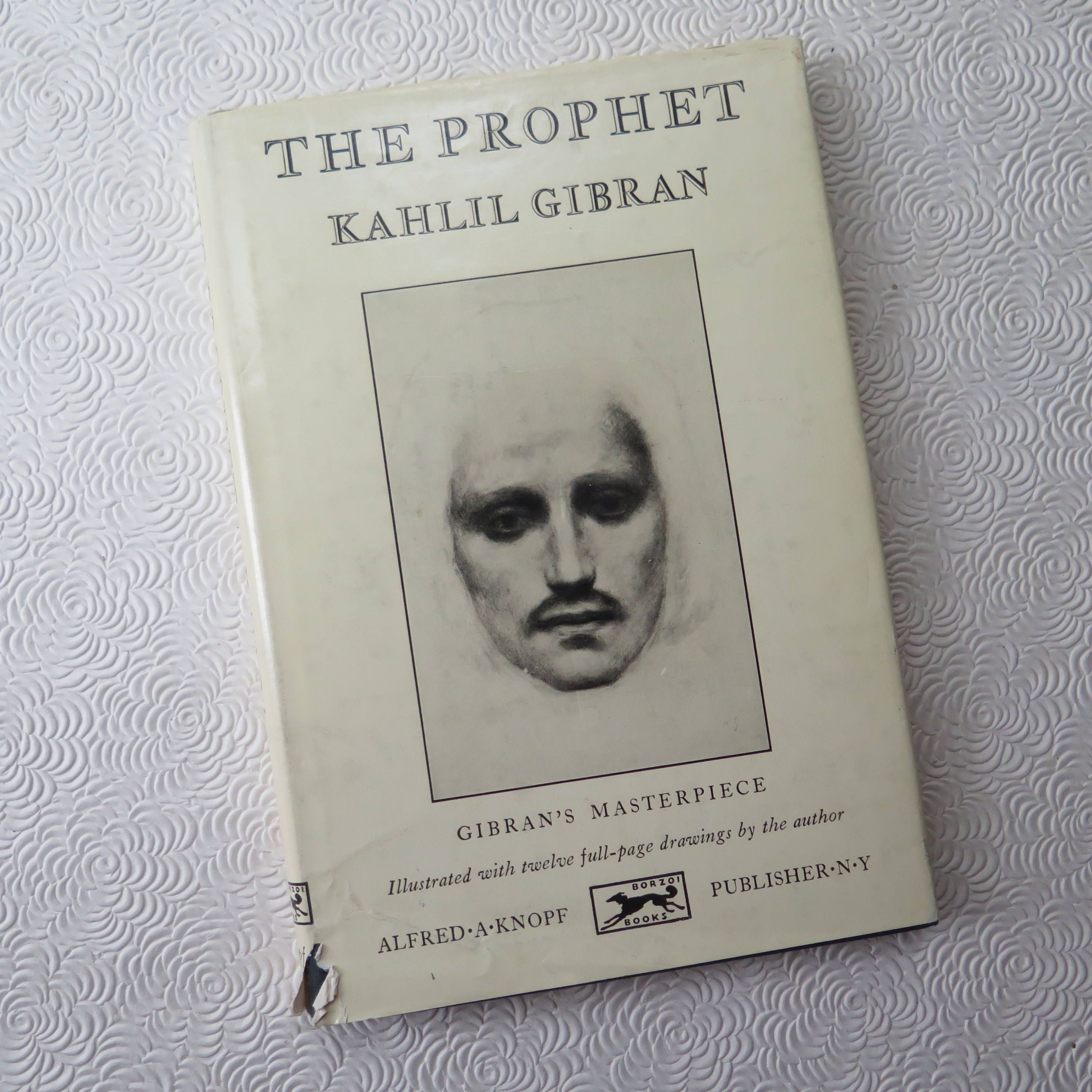 The Prophet Kahlil Gibran 1962 Illustrated Edition Knopf