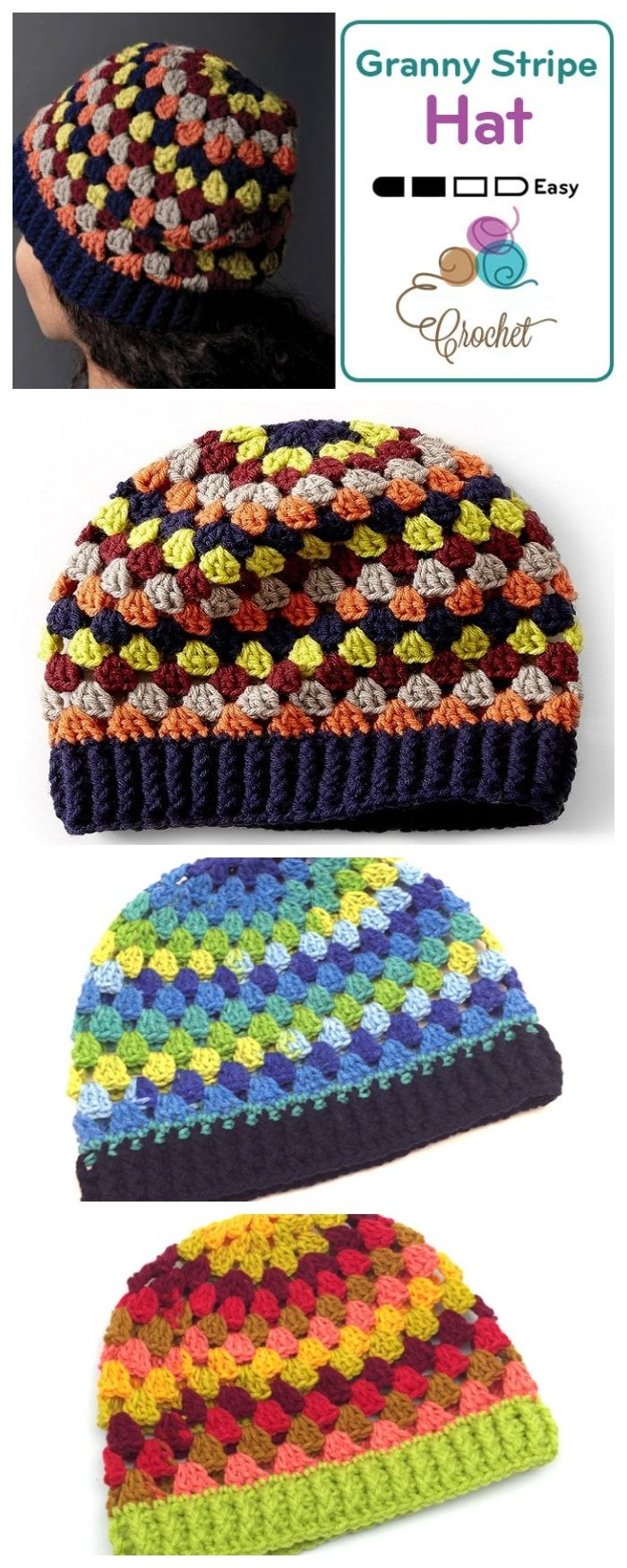 Crochet Granny Stripe Hat | Knitting Knitting Knitting PINS for ALL ...