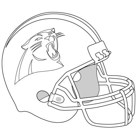 Ausmalbilder Von Carolina Panthers Carolina Panthers Carolina Panthers Helmet Panthers Helmet
