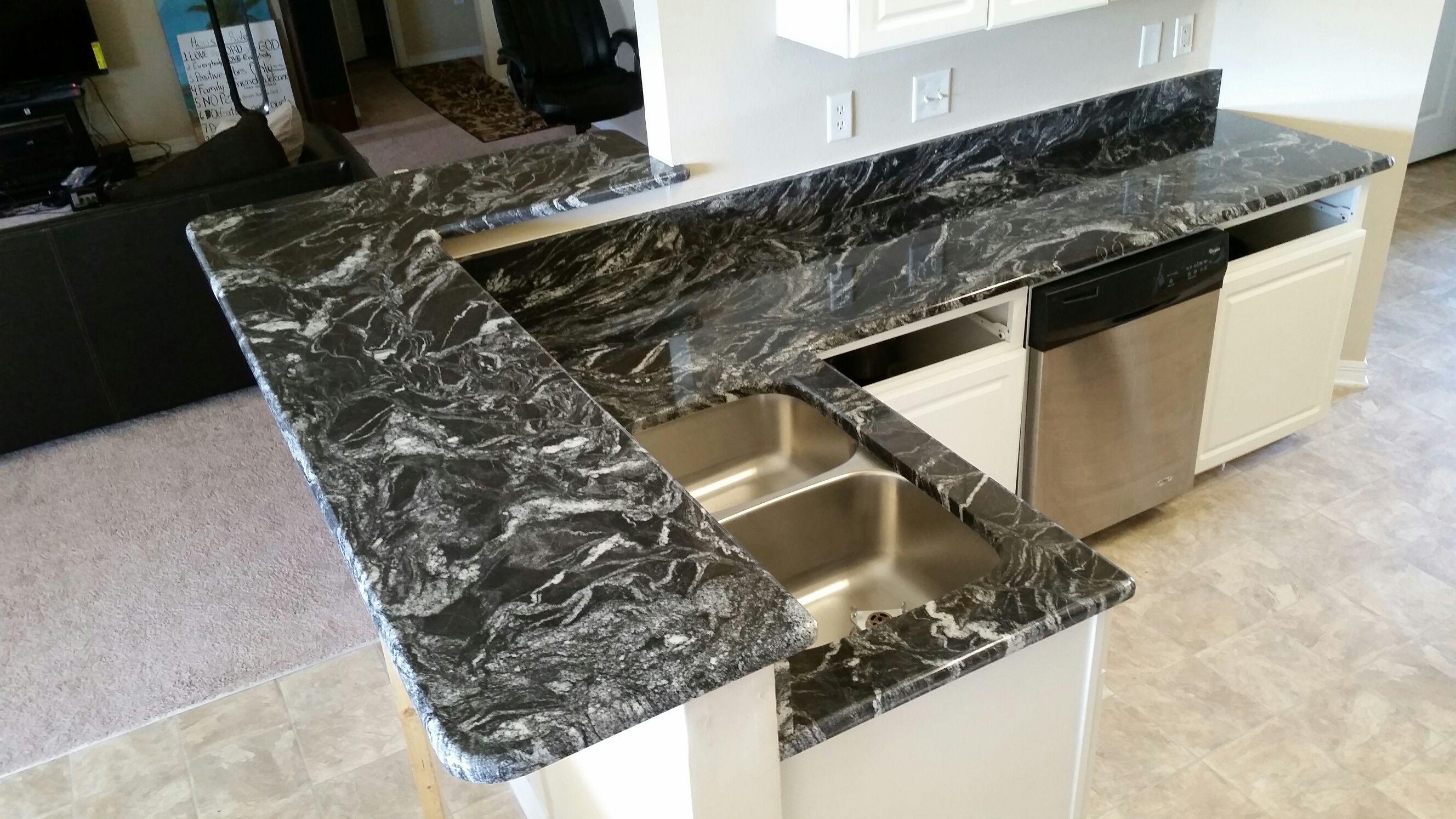 Black Countertops Granite Kitchen
