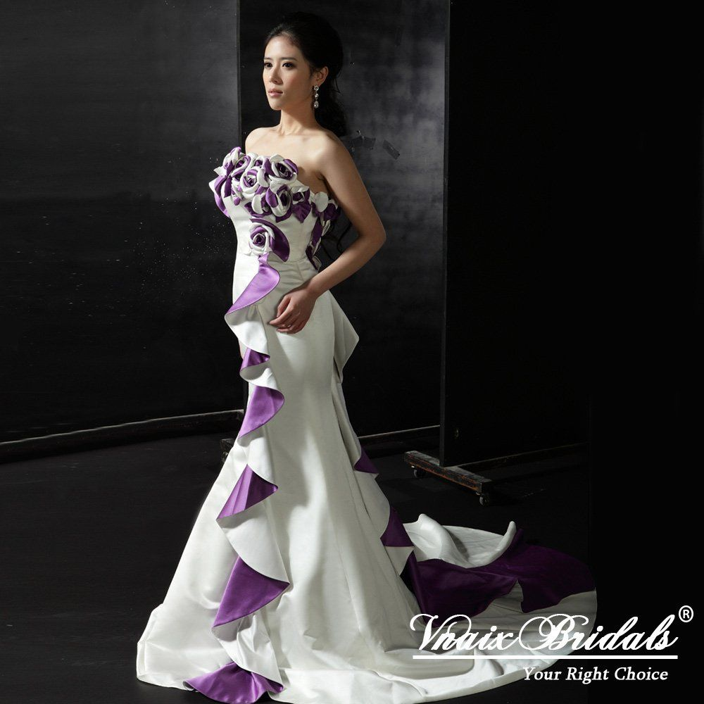White And Purple Wedding Gowns Are Glamorous - The Wedding ...
