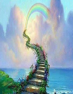 The Rainbow Bridge With Images Rainbow Bridge Stairs To
