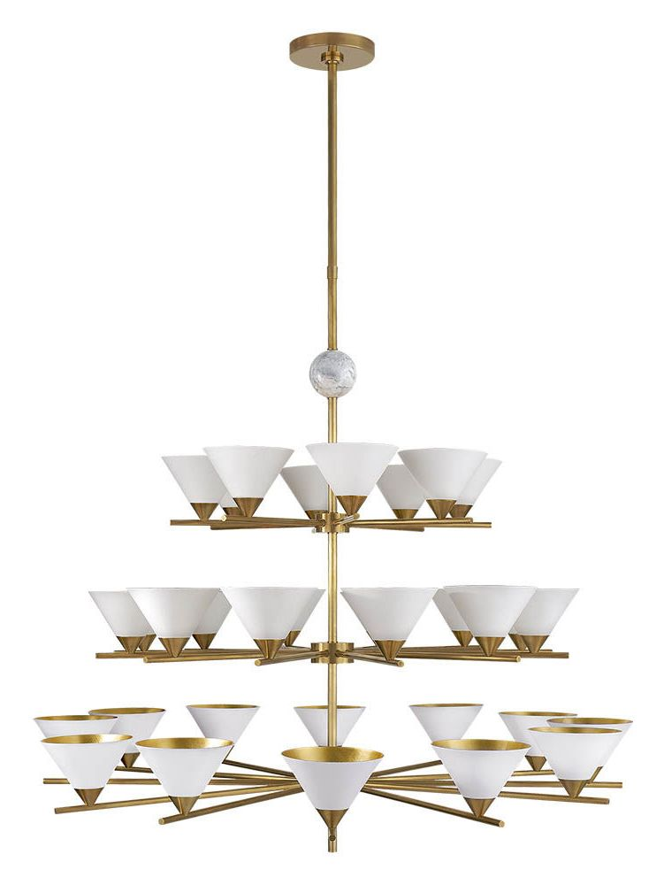 Cleo three tier chandelier high end luxury design furniture and decor