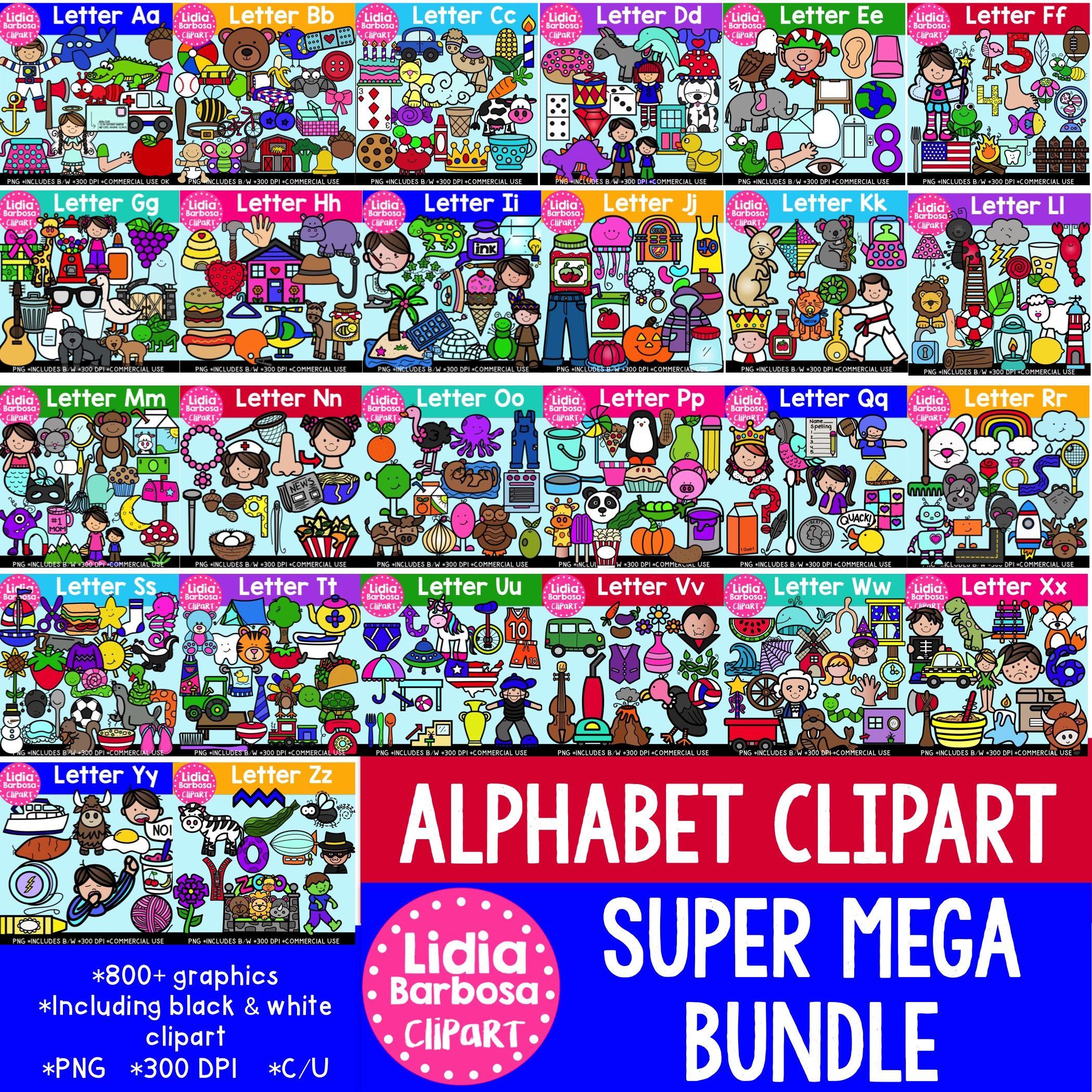 Alphabet Clipart Super Mega Bundle Bolds Edition