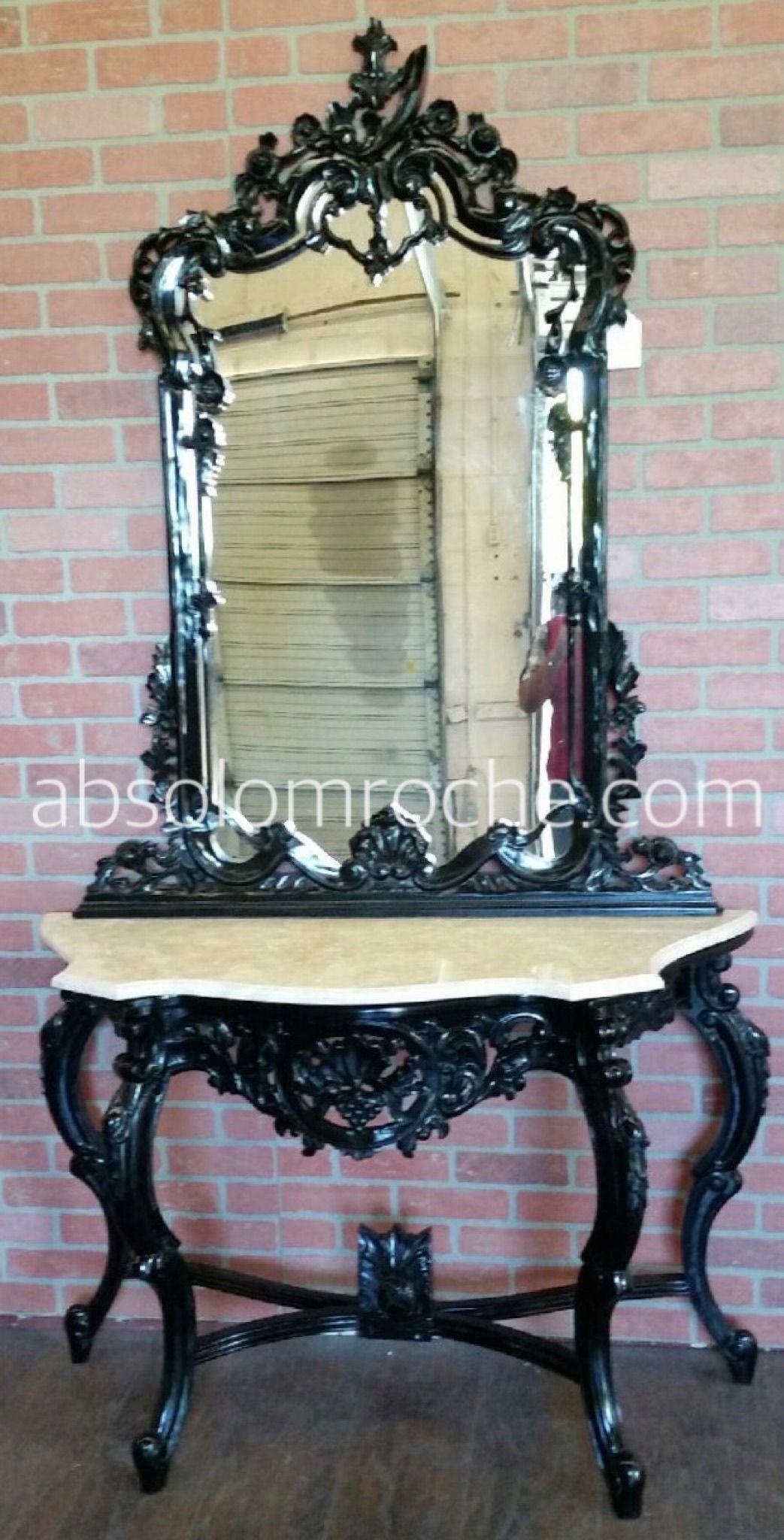good Gothic Vanity For Sale Part - 11: FLASH SALE | Baroque Vanity u0026 Mirror - Black