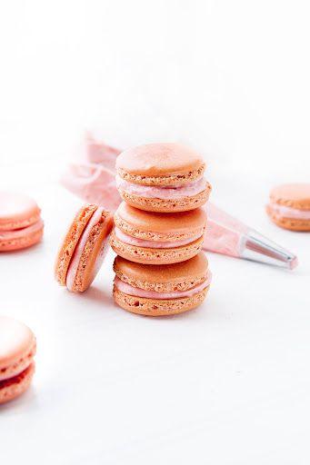 Pink Lemonade Macarons With Almond Flour, Powdered Sugar, Granulated ...