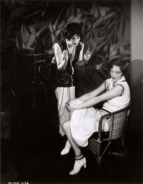 Joan Crawford and photographer Ruth Harriet Louise at MGM 1928, photo by Clarence Sinclair Bull