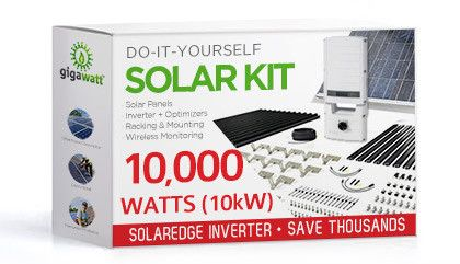 10000 Watt 10kw Diy Solar Install Kit W Solaredge Inverter Complete Grid Tie Systems Diy Solar Panel Solar Kit Solar Power Panels