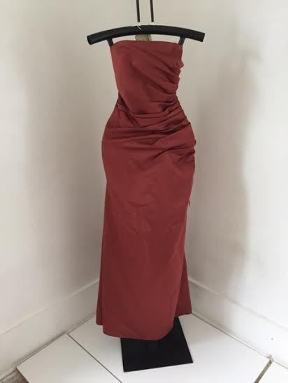 Forever Yours Burnt Orange Sz 16 Bridesmaid Prom Formal Dress