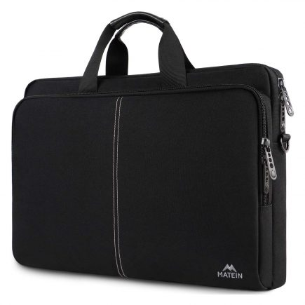 Matein 17 Inch Laptop Carrying Case Slim Laptop Bag For Office College School And Business Travel Black Best Laptop Cases Best Laptops Laptop Carrying Case