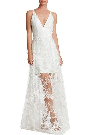 e86e00c6d76 Free shipping and returns on Dress the Population Sidney Lace Gown at  Nordstrom.com. Intensely romantic and dramatic in luscious floral lace with  a ...
