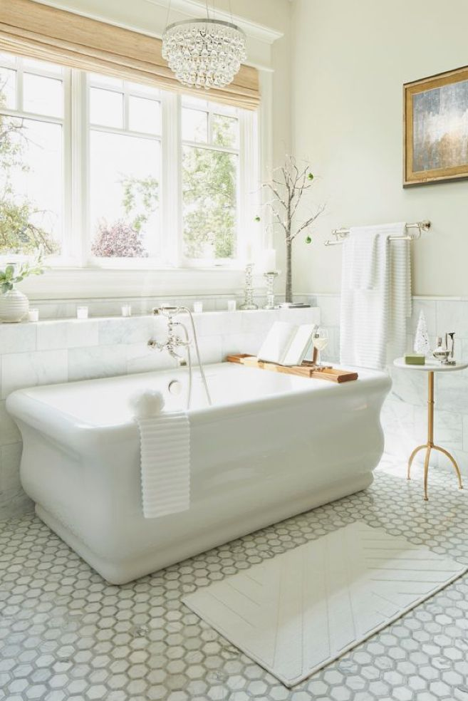 Beautiful tub and wall mounted fixtures | Bathrooms | Pinterest ...