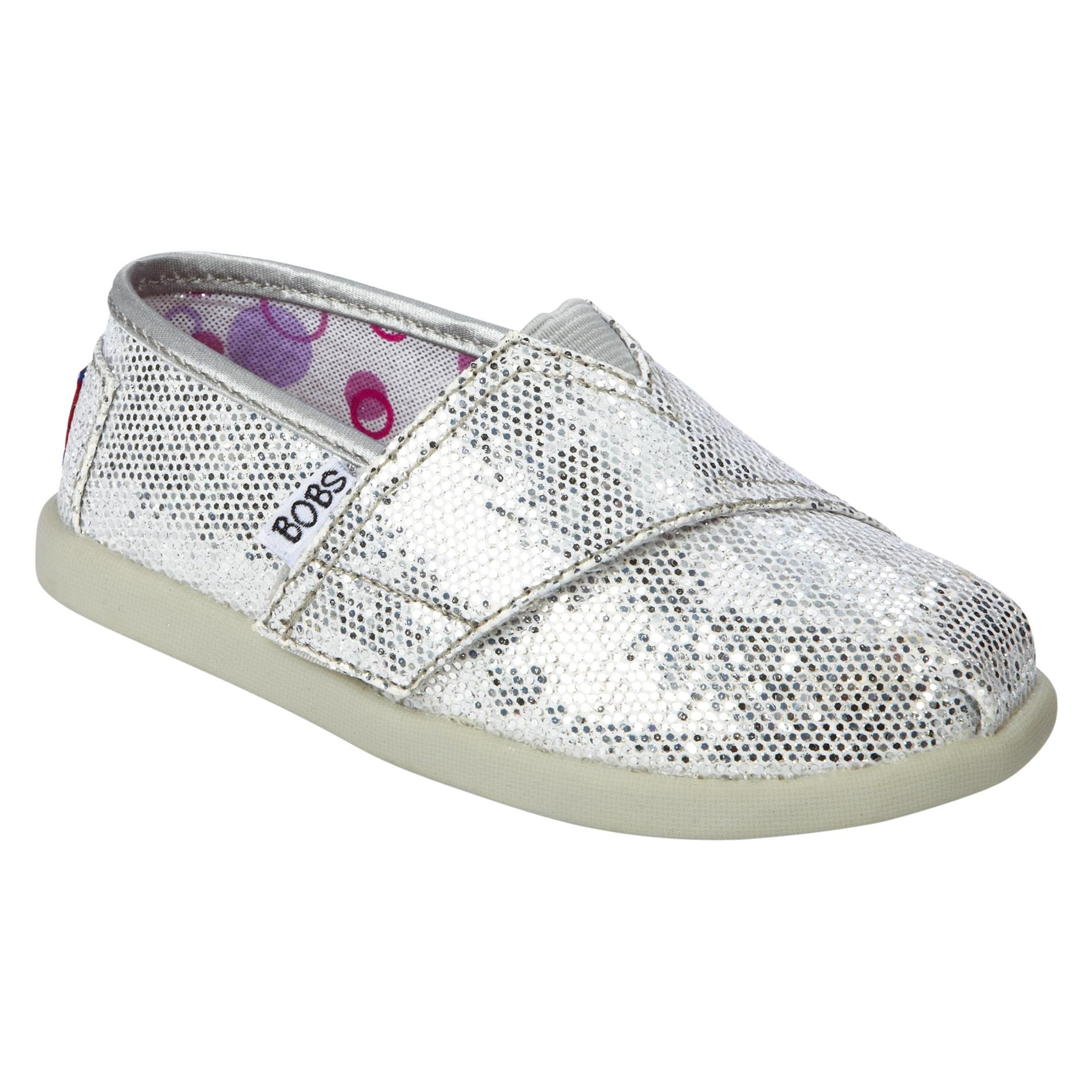 Skechers Toddler Girl s Bobs World Silver Shoes Toddler Girls