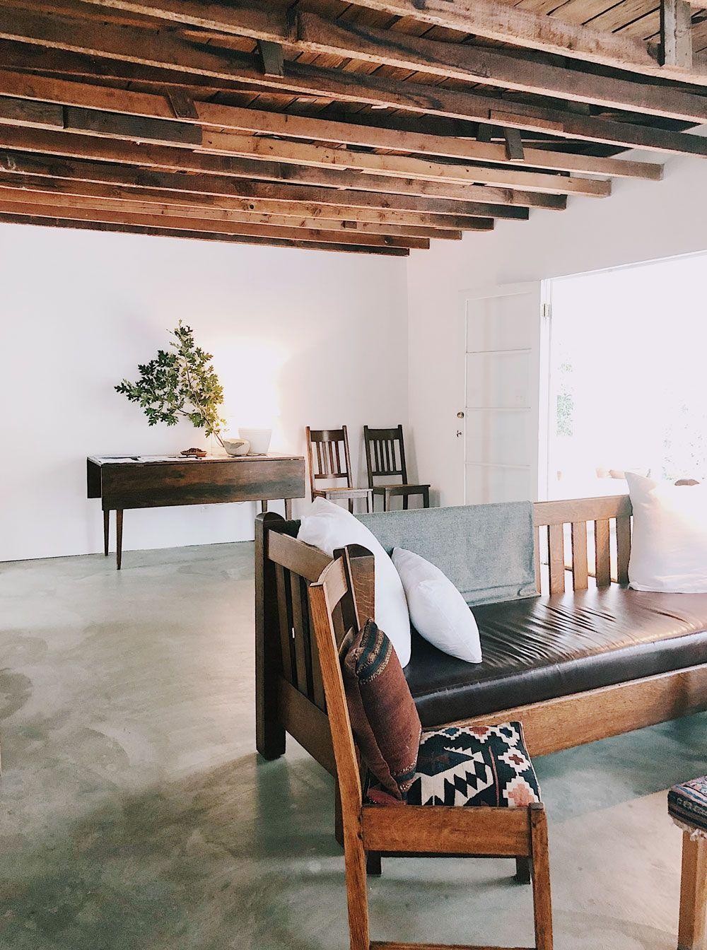 live along the L.A. river. Concrete floors, Concrete