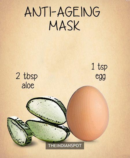 Aloe vera face mask anti aging