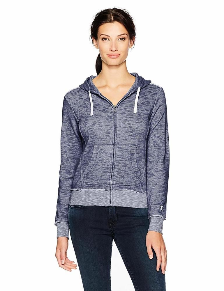 20d921687 Champion Life Womens Size Large Blue EU Collection Distressed Full Zip  Hoodie #Champion #Hoodie #Casual