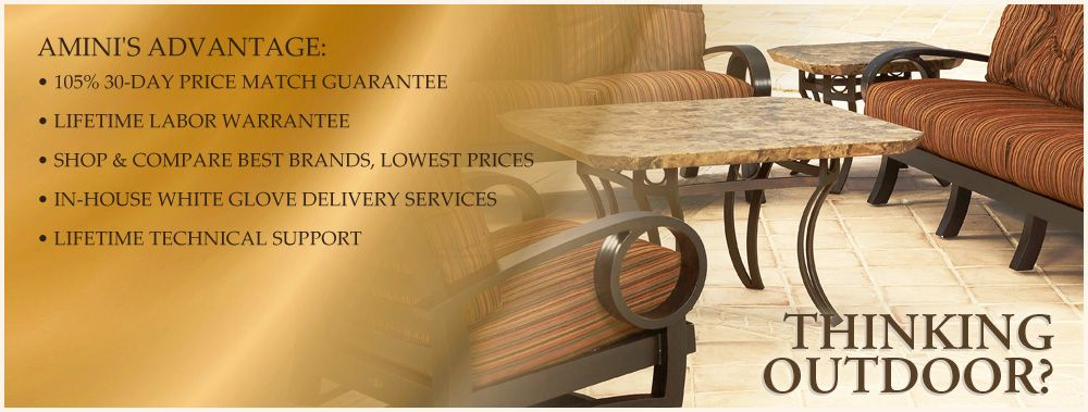 Amini S Galleria Has A Wide Variety Of Elegant Outdoor Furniture