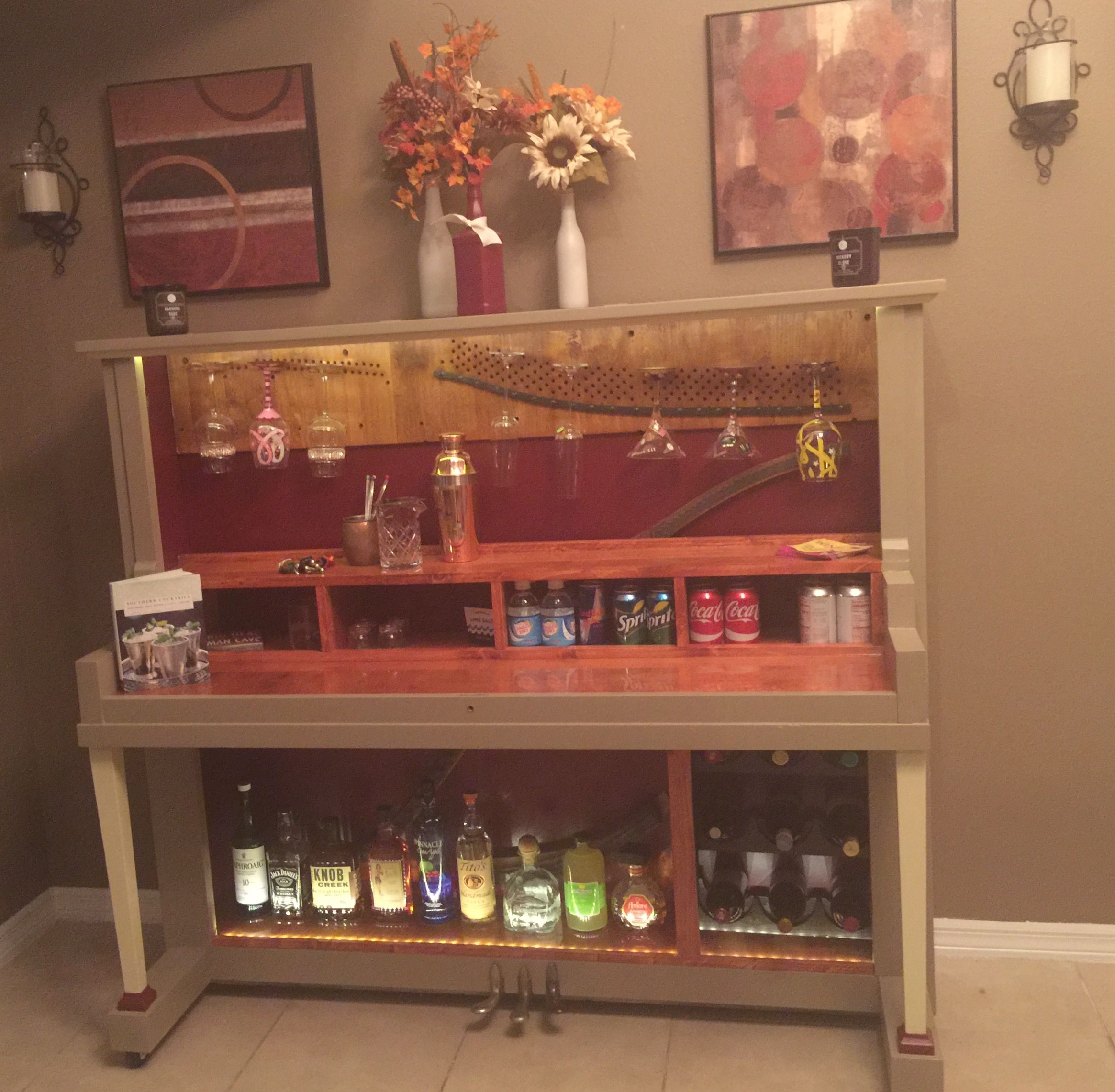 Piano Turned Into A Wine Bar For Sale 1250 Wine Glass Display Piano Bar Unique Wines