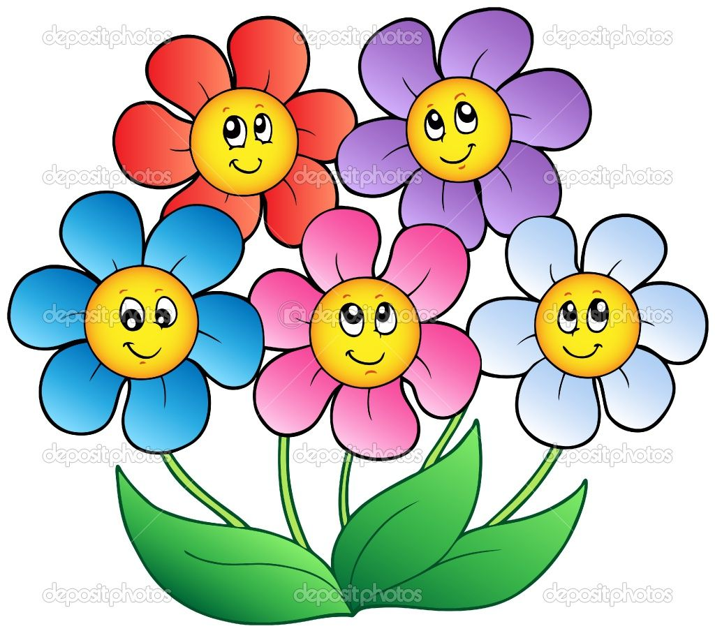 cartoon pictures of flowers Google Search cartoon art for illustrations