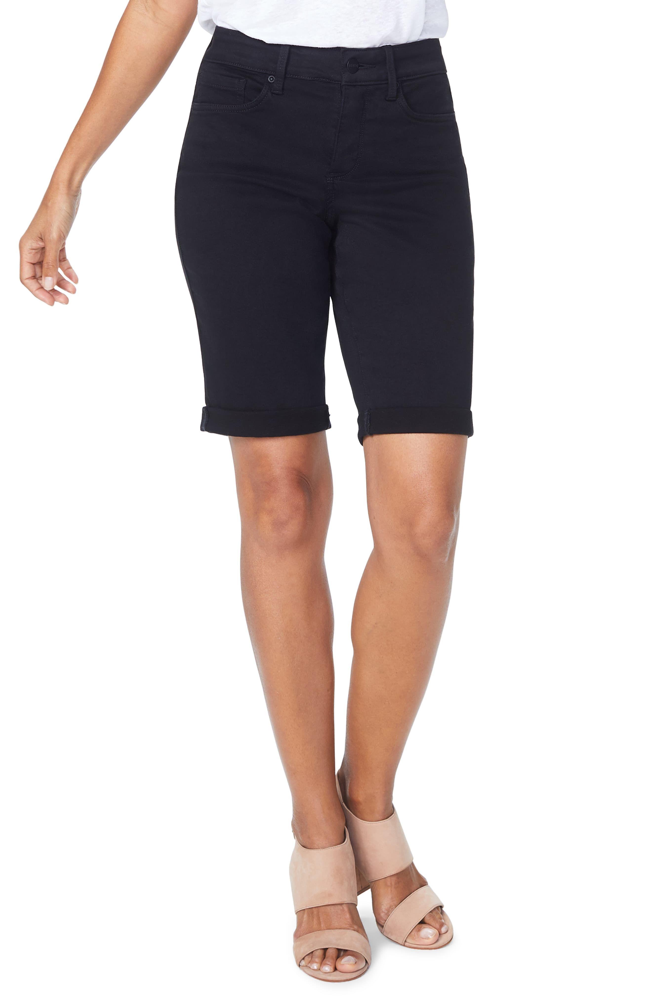 1f5ea478f9c Plus Size Women's Nydj Briella Roll Cuff Bermuda Shorts, Size 22W - Black
