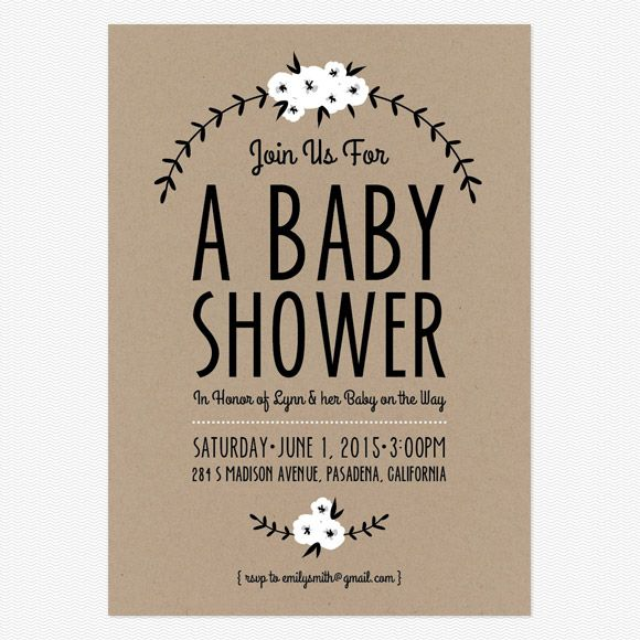 Adorable Free Printables + Baby Shower\/Announcements Design - free baby shower invitations templates printables
