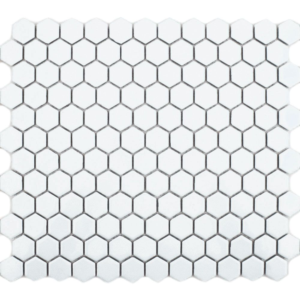 Matt White Hexagon Tiles Toto Mosaic 298x256x5mm From Walls And Floors Leading