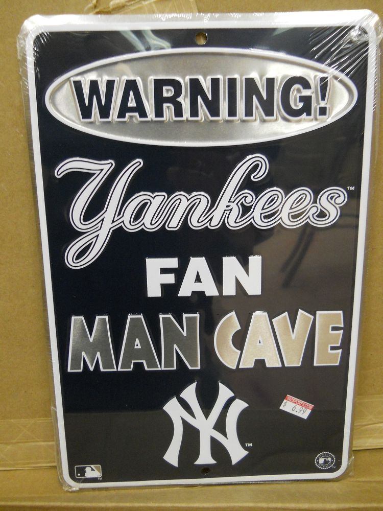 Yankees Man Cave Decor : New york yankees man cave metal sign anthony