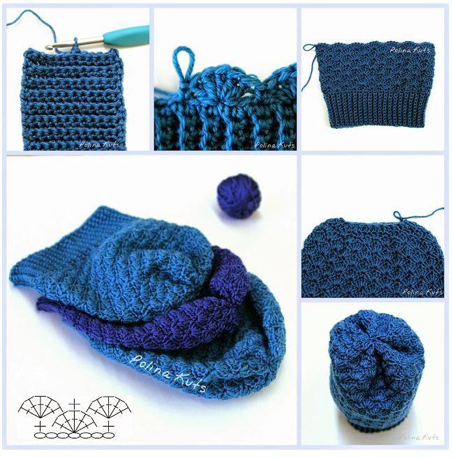 Gorros para tejer al crochet / Aprende a tejer | Crochet y Dos ...