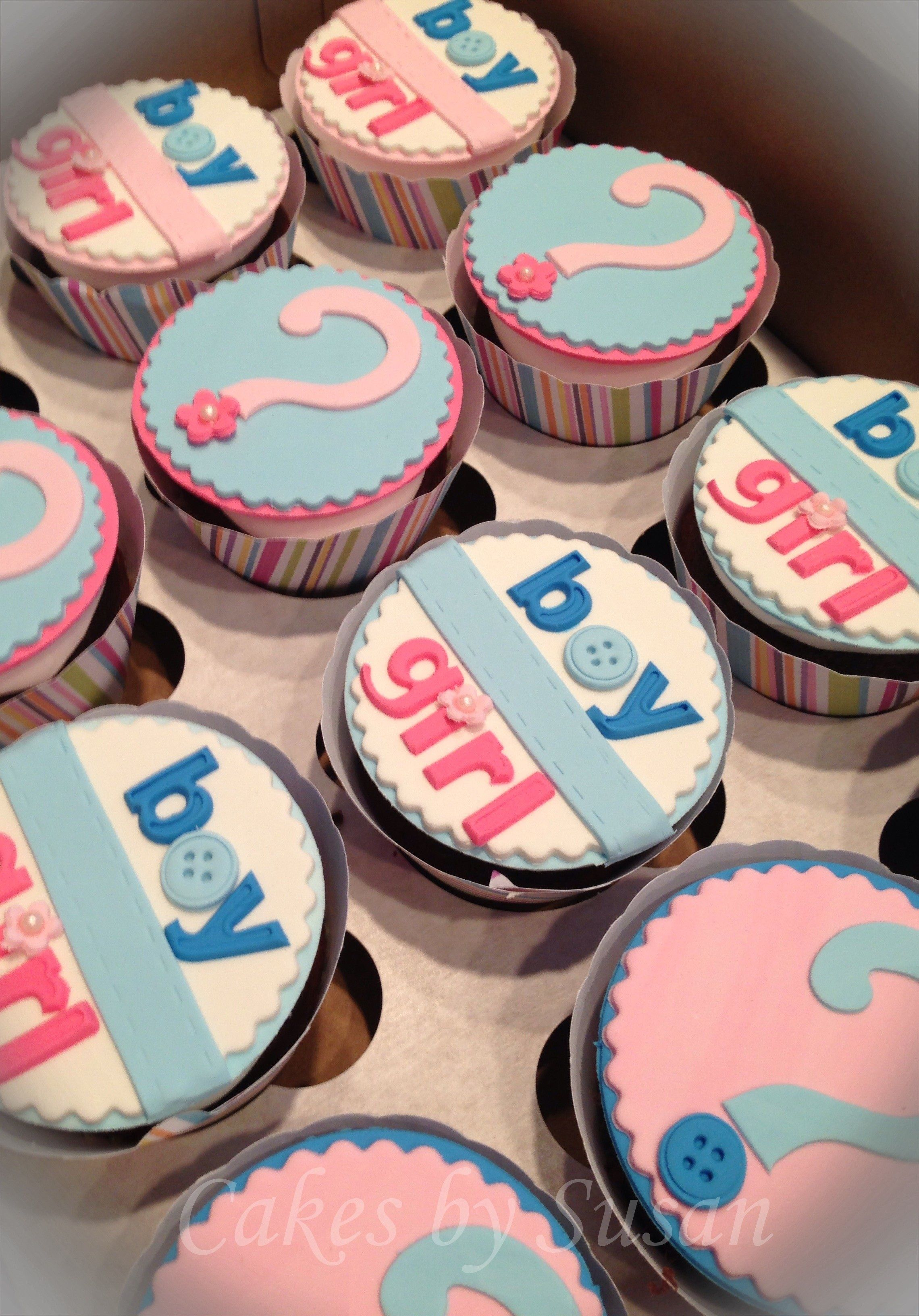 Gender reveal cupcake It was a boy Baby Pinterest – Announcing Gender of Baby Ideas