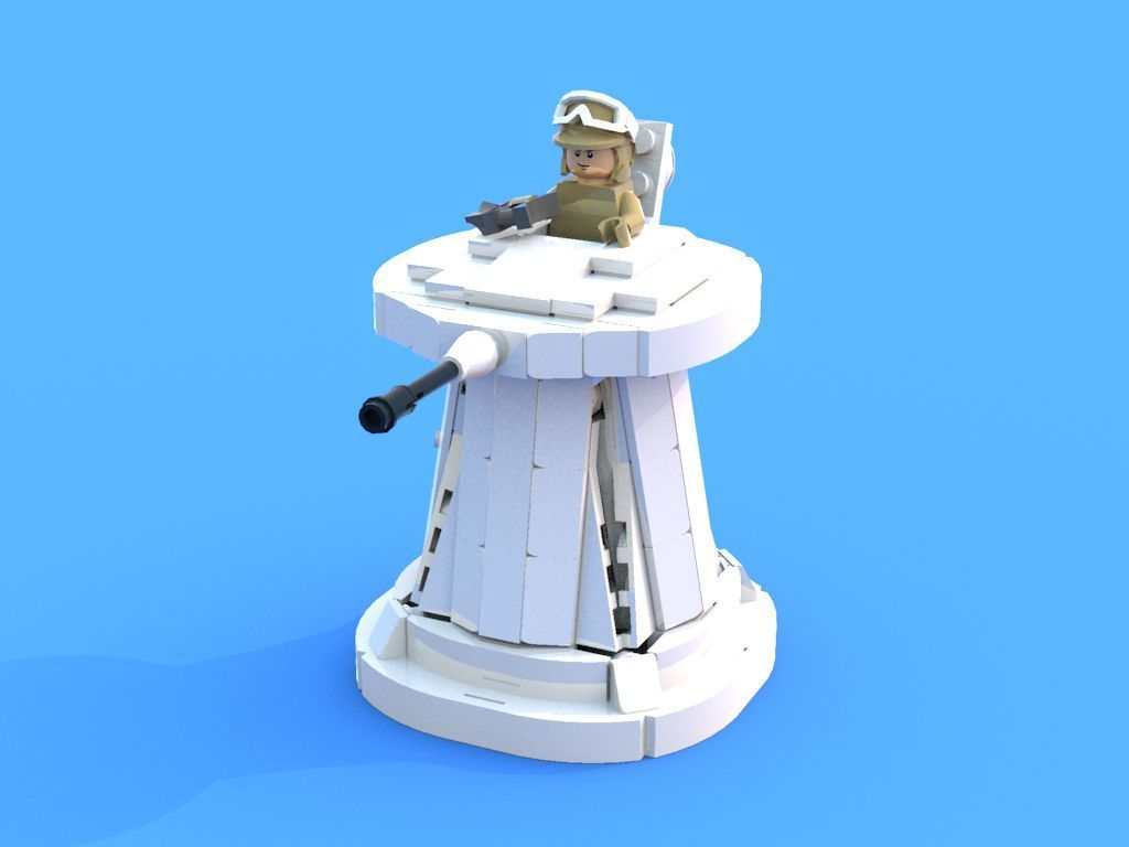 Instructions Only Custom Lego Star Wars Hoth Turret