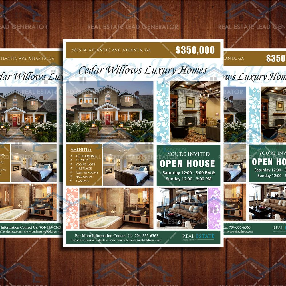 Home  Flyer Template Open House And Real Estate