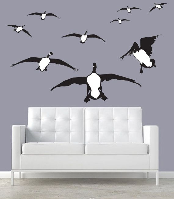 Canada Geese Wall Decal Silhouettes