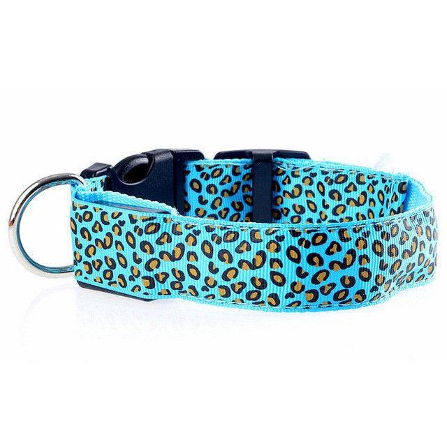 Leopard LED Dog Collar Luminous