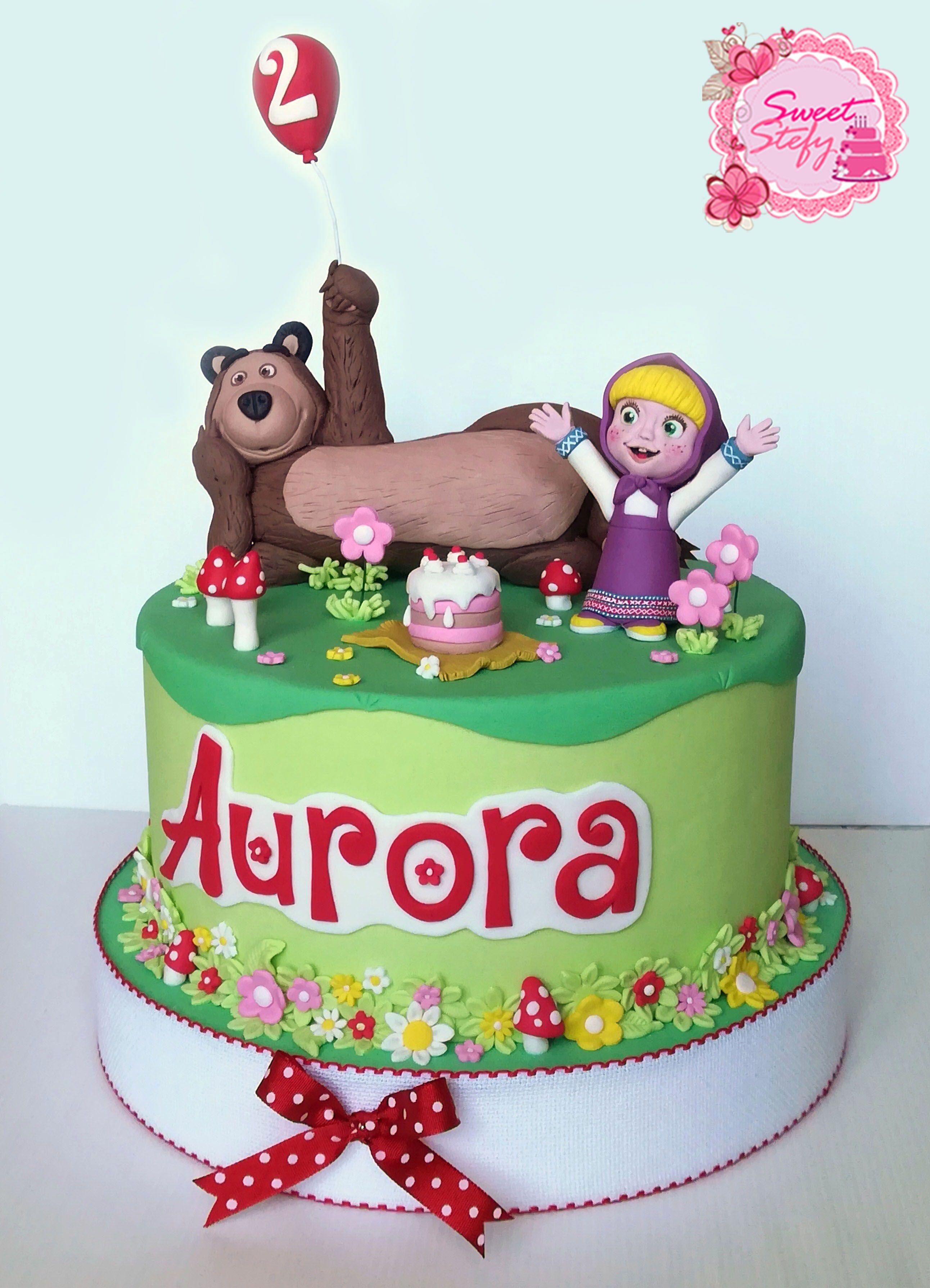 Pin By Sweet Stefy On Torta Masha E Orso Pinterest Bear Cakes