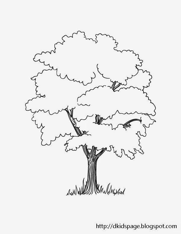 Kids Page Printable Tree Coloring Page Tree Coloring Page Tree Drawing Earth Day Coloring Pages