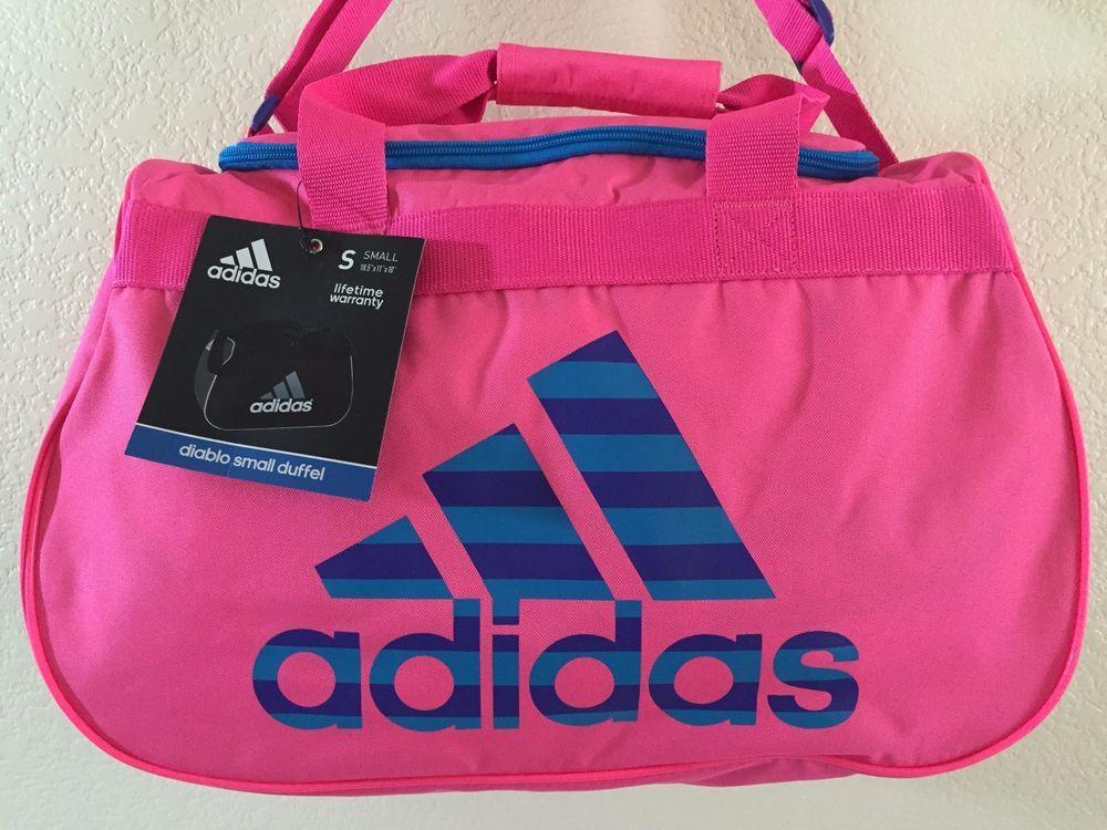 3dd52c6c47 ADIDAS Diablo Small Duffel Women Solar pink Gym bag luggage 18.5