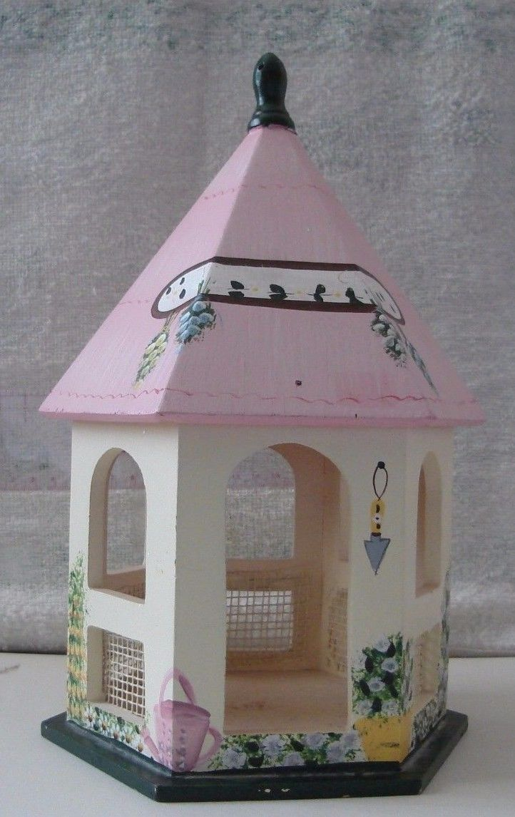 Wooden Bird Feeder Gazebo 11 inches Tall | eBay