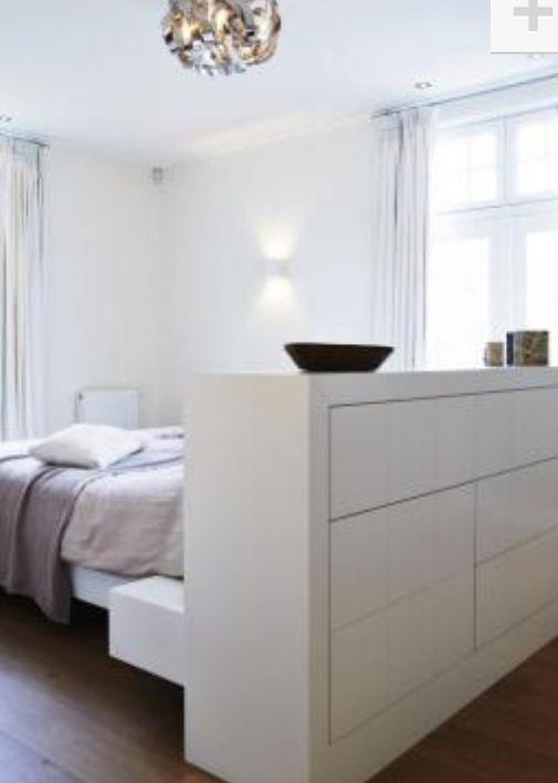 Idee divider slaapkamer en ertegenaan bad of kleedkamer | Master ...