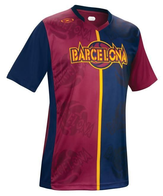 48fcf469f ... Football Tips And Tricks. Xara Champion Series II Barcelona Short  Sleeve Jersey