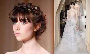 Resultado de imagen de peinados de novia 2015 con flequillo