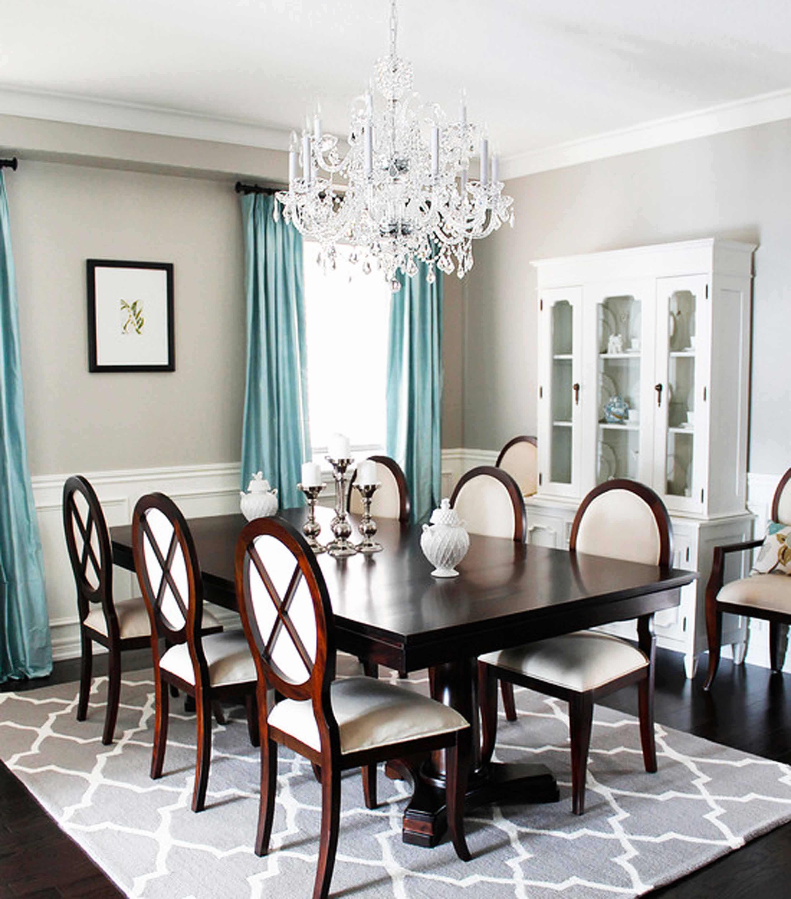 what color rug goes with cherry dining room table - Google Search ...